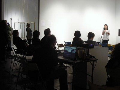 Performance and video artist discussion by Soyeon Yung & Installation/performance by Mariel Carranza. Arena 1 Gallery. Santa Monica (see MI #17)